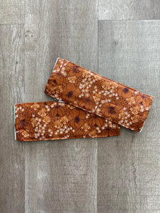 Rust Floral Fabric Mask