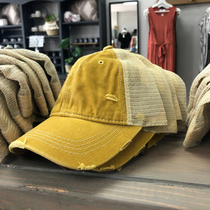 Yellow Trucker Hat - Terra Cottage