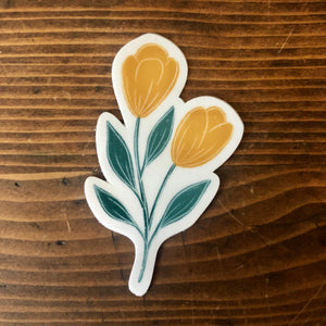 Yellow Tulip Sticker
