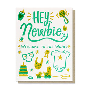 Hey Newbie - Newborn Card - Terra Cottage
