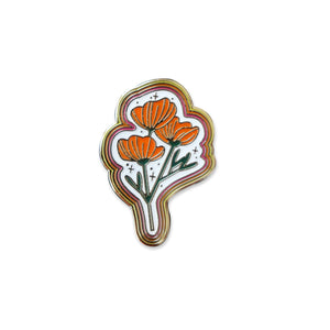 Poppy Enamel Pin - Terra Cottage