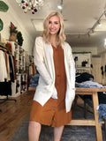 Roxie Plush Ivory Cardigan