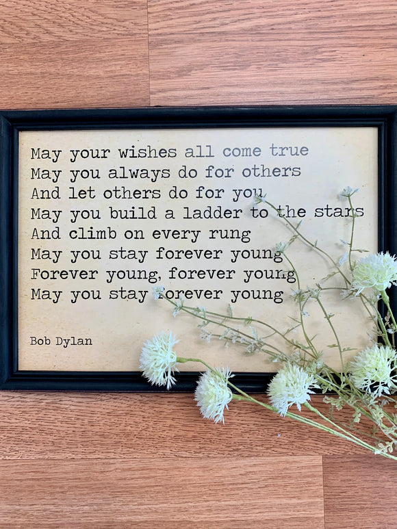 Forever Young Framed Wall Decor