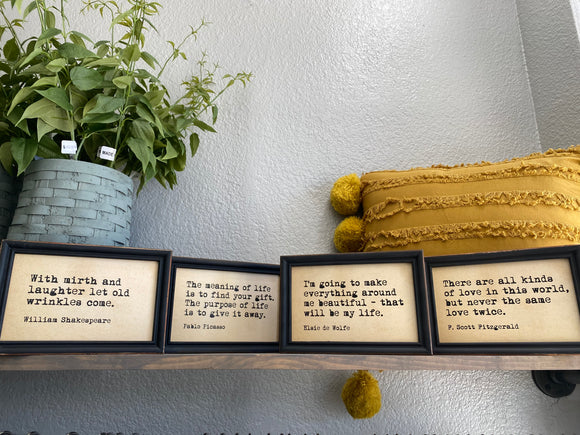 Quote Frames - Terra Cottage