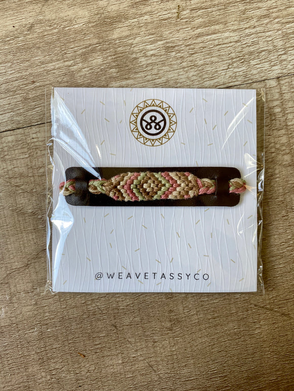 Multi Color Woven Bracelet - Terra Cottage