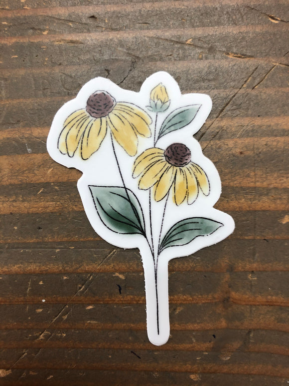 Yellow Flower Sticker
