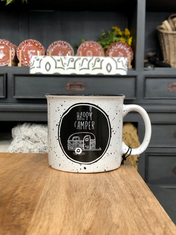 Happy Camper White Mug