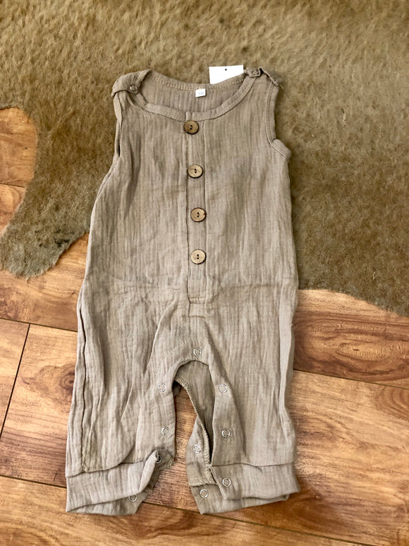 Tan Sleeveless Romper