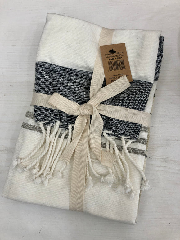 Neutral Striped Towel Set