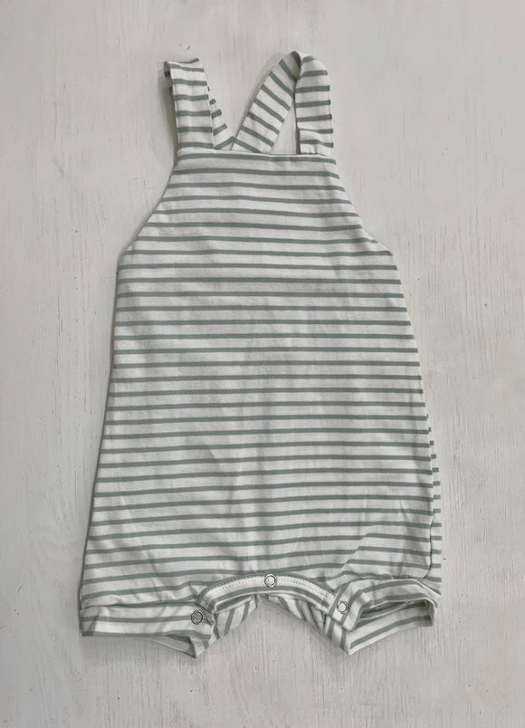 Green Striped Baby Romper