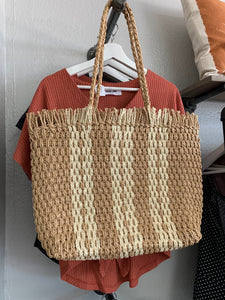 Straw Woven Market Bag - Terra Cottage