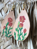 Hand Painted Poppy Earrings - Terra Cottage