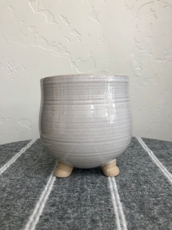 Footed Round Pot Large