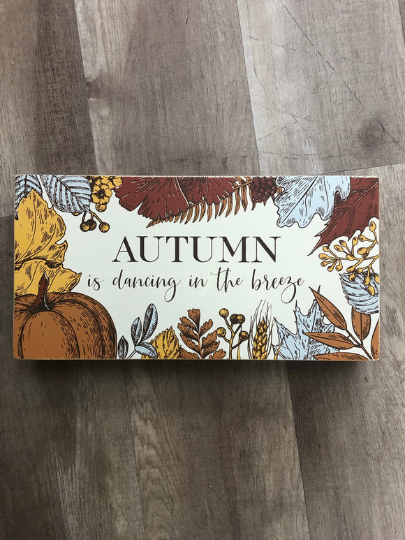 Autumn Breeze Box Sign - Terra Cottage