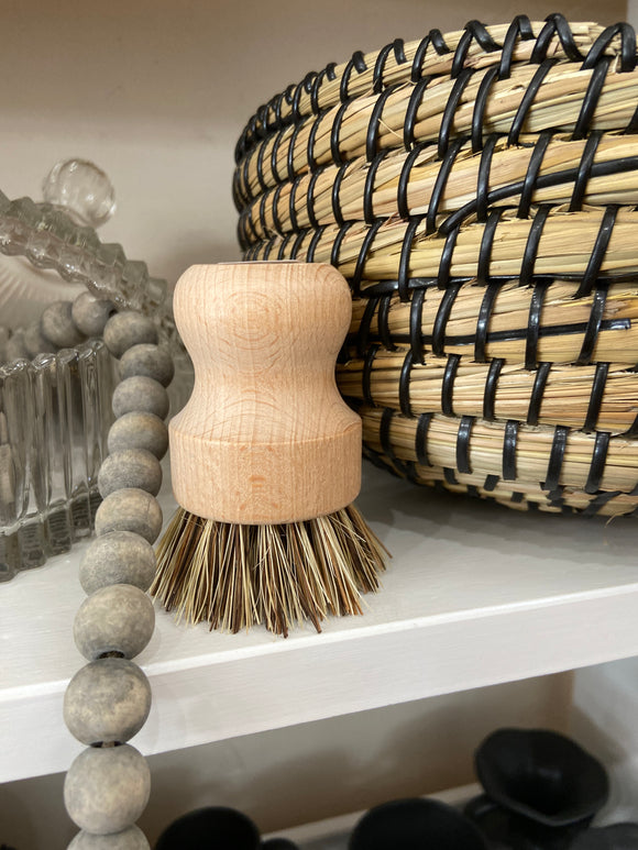White Teakwood Pot Scrubber - Terra Cottage
