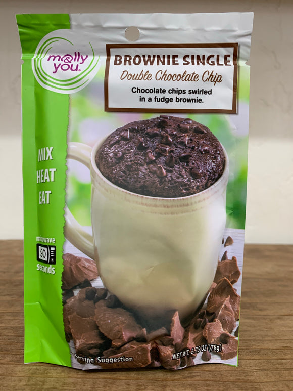 Mug Cake - Double Chocolate Chip Brownie