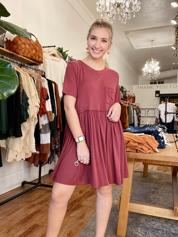 Brick Swing Dress