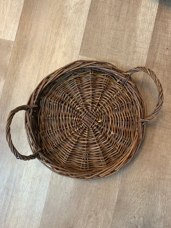 Small Round Willow Trays
