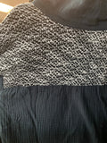 Grey Shoulder Knit Long Sleeve
