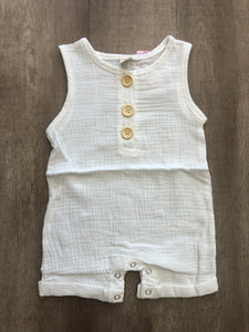 Button Up Baby Romper - Terra Cottage