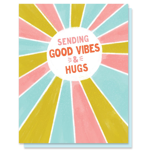 Sending Good Vibes And Hugs Card - Terra Cottage