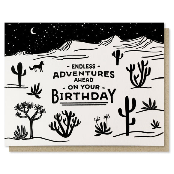 Endless Adventures - Birthday Card - Terra Cottage