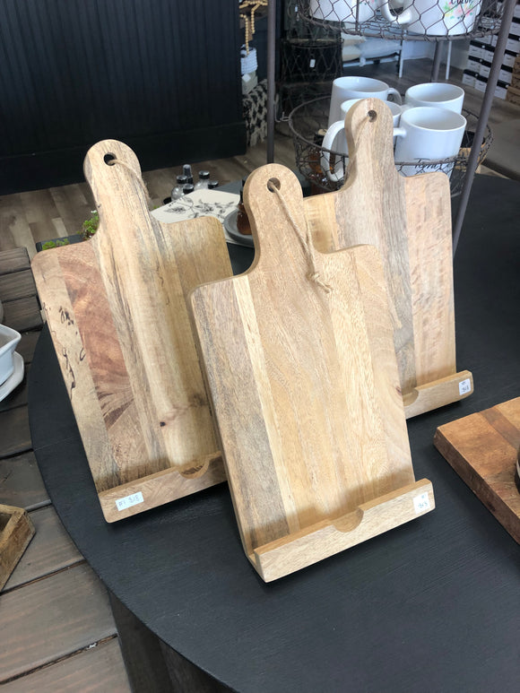 Vertical Cookbook/ Tablet Holder - Terra Cottage