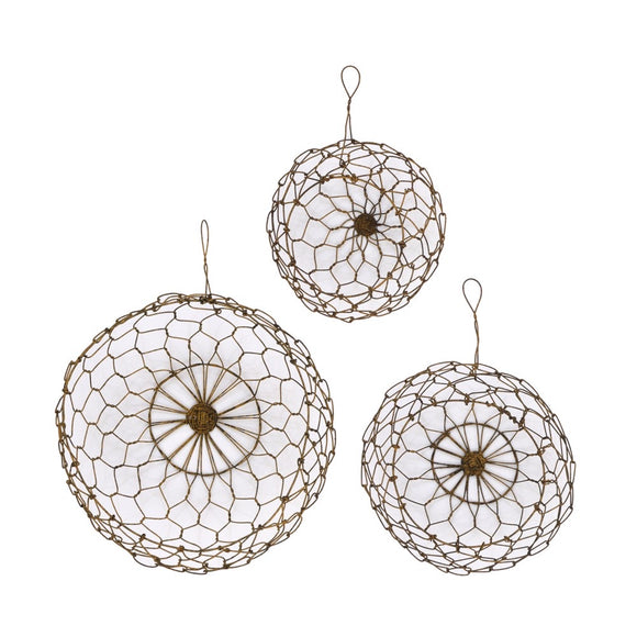 Round Wire Hanging Baskets - Terra Cottage