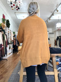 Mustard Balloon Sleeve Cardigan