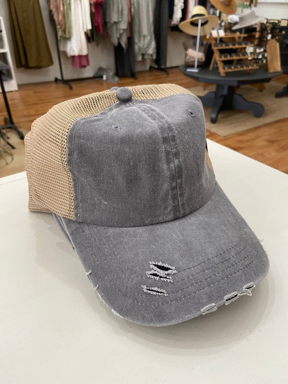 Grey Trucker Hat - Terra Cottage