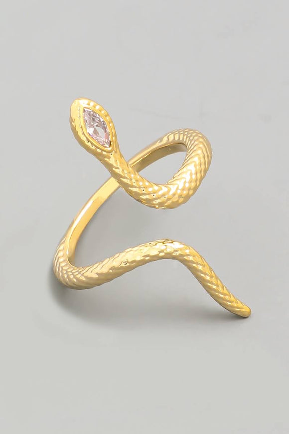 Textured Open Snake Ring