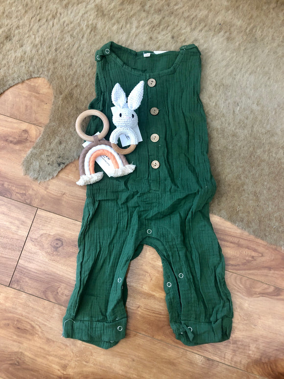 Evergreen Sleeveless Romper