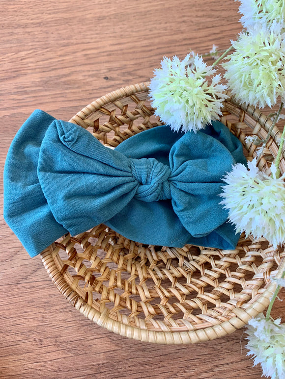 Baby Bow Headband - Teal
