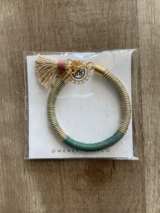 Multi Color Thread Bracelet With Tassel - Terra Cottage