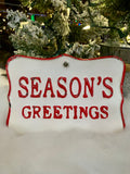 Seasons Greetings Metal Sign