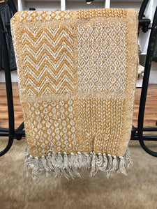 Mustard Patchwork Throw