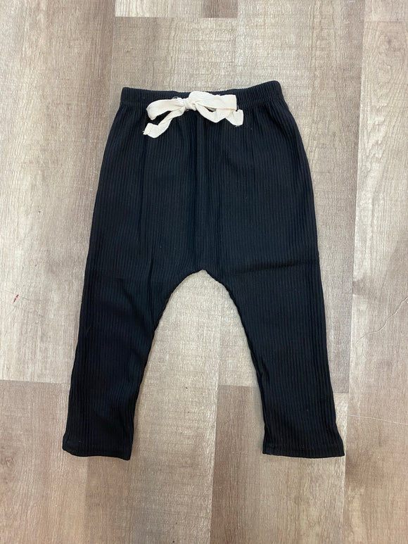 Black Ribbed Baby Leggings - Terra Cottage