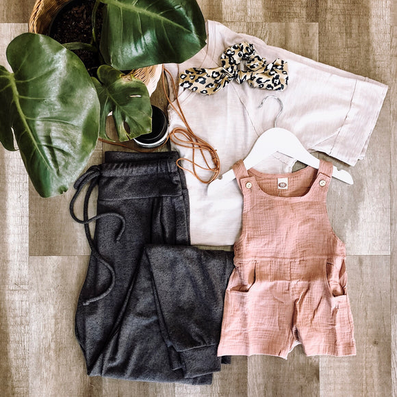 Pink Overall Romper - Terra Cottage