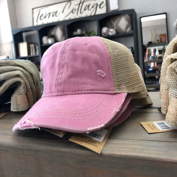 Pink Trucker Hat - Terra Cottage