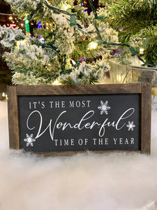 Most Wonderful Time Of Year Sign