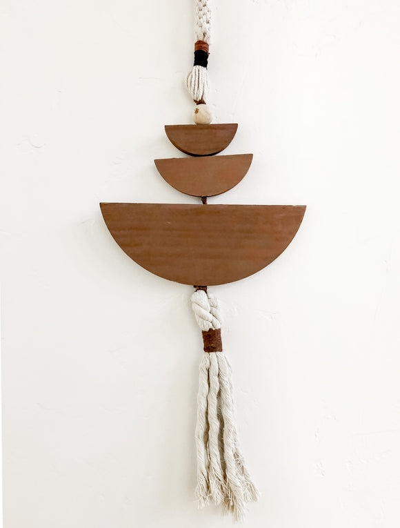 Tiered Wood Wall Hanging