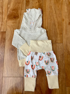 Rainbow Hoodie and Pant Baby Set