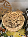 Round Hand-Woven Palm Boxes w/ Lids, - Terra Cottage