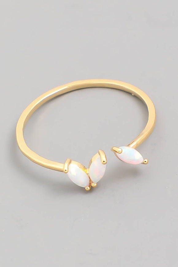 Delicate Opal Fashion Open Ring