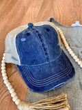 Navy Mineral Wash Cap