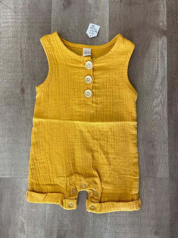 Golden Button Baby Romper - Terra Cottage