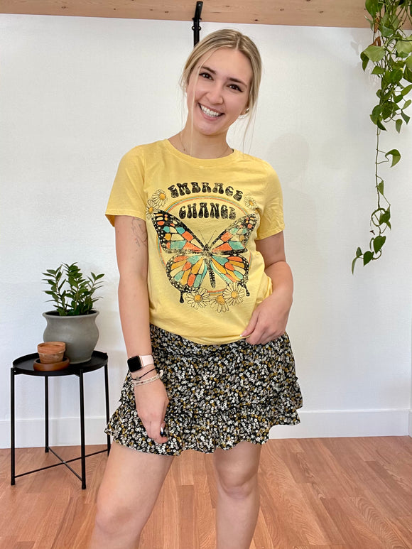 Embrace Change Mineral Wash Graphic Tee