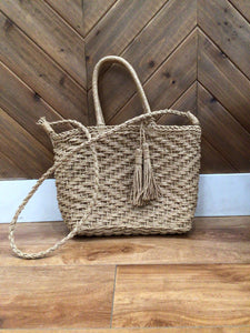 Boho Braided Square Tote Bag