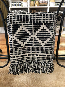 Black and Natural Throw - Terra Cottage