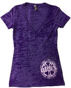 ALBE'S WOMAN'S  V-NECK SHIRT Small/Purple